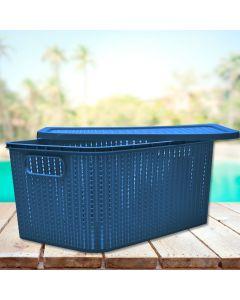Caixa Organizadora com Tampa 14 litros Plasútil - Azul