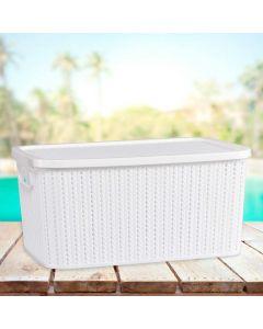 Caixa Organizadora com Tampa 14 litros Plasútil - Branco