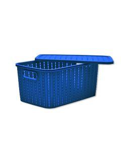 Caixa Organizadora Com Tampa 4,7 Litros Plasútil - Azul