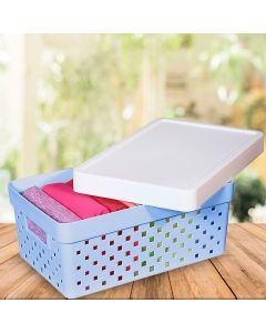 Caixa Organizadora Quadratta Paramount - Azul