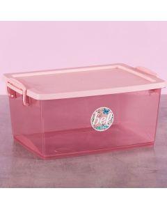 Caixa Organizadora com Travas 15 Litros Ordene - Rose