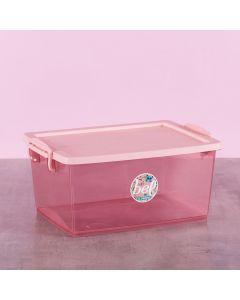 Caixa Organizadora com Travas 7,5 Litros Ordene - Rose