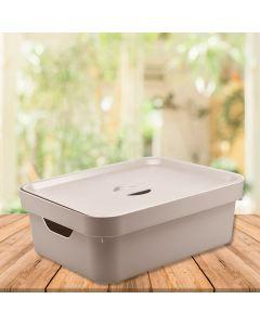 Caixa Organizadora Cube 10,5 litros Martiplast - Bege