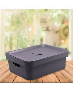 Caixa Organizadora Cube 10,5 litros Martiplast - Chumbo