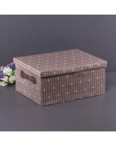 Caixa Organizadora de Tecido 36x26x16,5cm Finecasa - Marrom