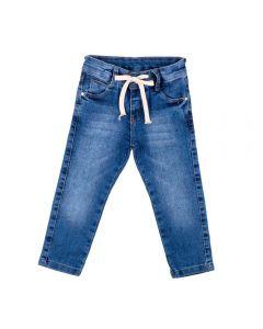 Calça de 1 a 3 anos Jeans com Cordão Yoyo Kids Azul