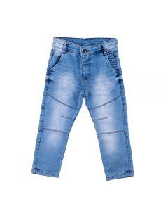 Calça de 1 a 3 Anos Jeans com Recorte Yoyo Kids Azul
