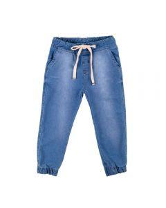Calça de 1 a 3 Anos Jeans Jogger com Cordão Yoyo Kids Azul