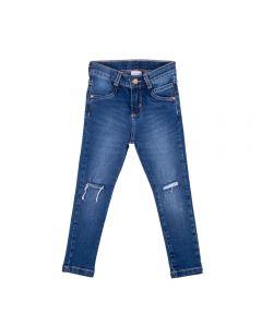 Calça de 1 a 3 Anos Jeans Rasgo Yoyo Kids Azul