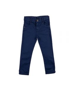 Calça de 1 a 3 Anos Sarja Cós Yoyo Kids Azul