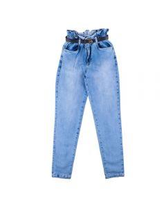 Calça de 12 a 16 Anos Clochard com Cinto Marmelada Jeans