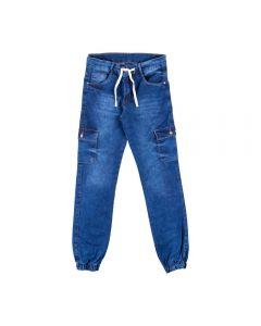 Calça de 12 a 16 Anos Jogger Jeans Cargo Hot Dog Jeans