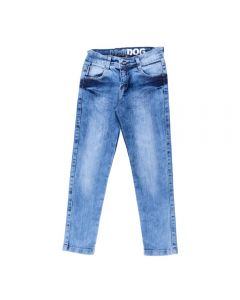 Calça de 4 a 10 Anos Jeans com Bigode Hot Dog Azul