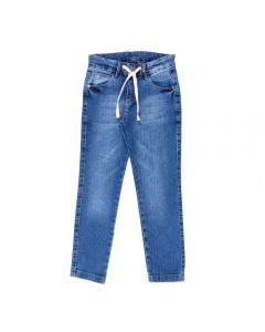 Calça de 4 a 10 Anos Jeans com Cordão Hot Dog