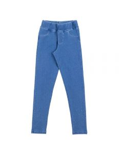 Calça de 4 a 10 Anos Jegging com Strass Marmelada Azul