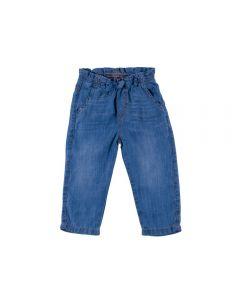 Calça de Bebê Jeans Laço Yoyo Baby Azul
