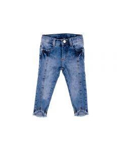Calça de Bebê Jeans Recortes Yoyo Baby Azul