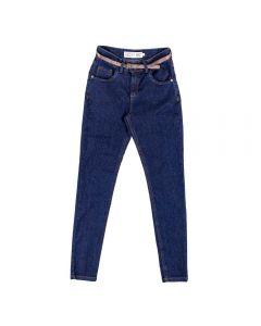Calça Jeans Feminina Adulto com Cinto Contatho Azul