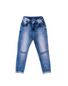 Calça Jeans Feminina Adulto Cropped Contatho Blue