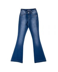 Calça Jeans Feminina Adulto Flare Contatho Blue