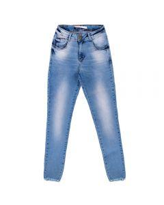 Calça Jeans Feminina Barra Desfiada Contatho