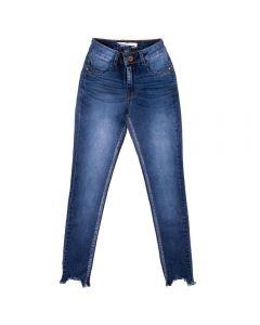 Calça Jeans Feminina com Used Contatho Blue