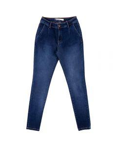 Calça Jeans Feminina Skinny Contatho Azul Escuro