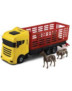 Caminhão Cowboy Truck com Animais Orange Toys - Amarelo