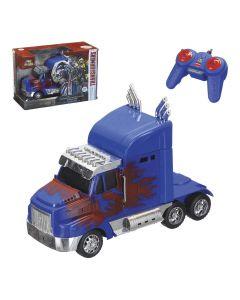Caminhão Transformer com Controle - Azul