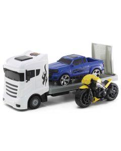 Caminhão Road Trippers Orange Toys - Branco