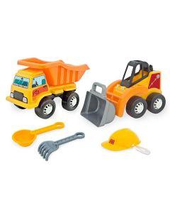 Caminhão Engenheiro Mirim com Trator Tilin - Amarelo
