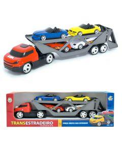 Caminhão Trans Estradeiro Cegonha com 4 Carrinhos BS Toys - DIVERSOS