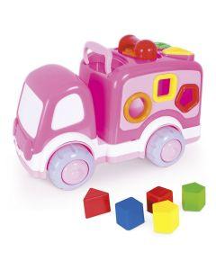 Caminhãozinho Didático Rosa Super Toys - Rosa