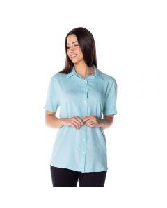 Camisa Alongada com Bolso Patrícia Foster Verde