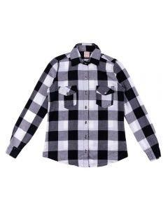 Camisa de 12 a 16 Anos Flanela Marmelada Pt/Bc