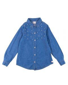 Camisa de 4 a 10 Anos com Pérolas Marmelada Jeans