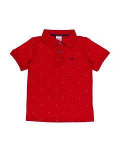 Camisa Polo de 4 a 10 Anos Poa Alakazoo Vermelho