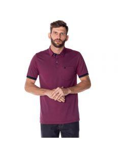 Camisa Polo Masculina Madrid com Bolso Marc Alain Rebu
