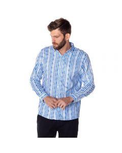 Camisa Social Listra Aquarela Thing Azul