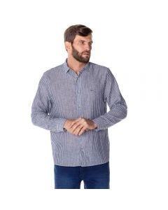 Camisa Social Masculina Linho Marc Alain Marinho