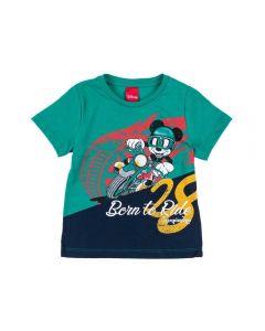 Camiseta 1 a 3 Anos de Malha Mickey Disney Verde