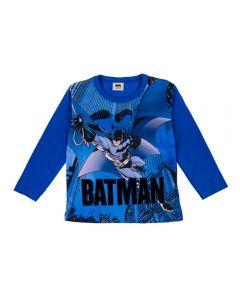 Camiseta 4 a 10 Anos Batman DC Comics Azul Escuro