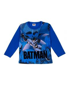Camiseta 4 a 10 Anos Batman Fakini Azul Escuro