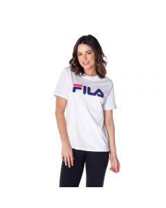Camiseta Basic Letter Fila Branco