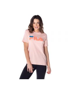 Camiseta Basic Letter Fila Salmao Claro/Coral