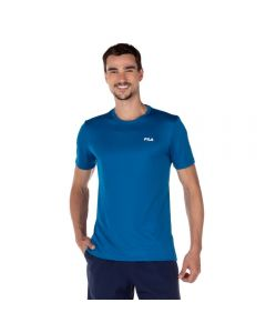 Camiseta Basic Sports Fila Azul Topazio