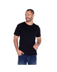 Camiseta Basica Decote Careca Básica Risk Preto