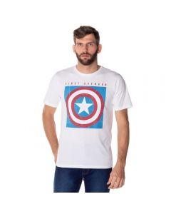 Camiseta Capitão América Marvel Branco