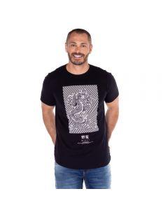 Camiseta com Estampa Dragão Thing Preto