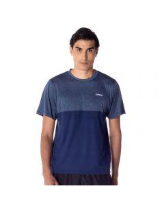 Camiseta com Recorte Scream Azul Marinho